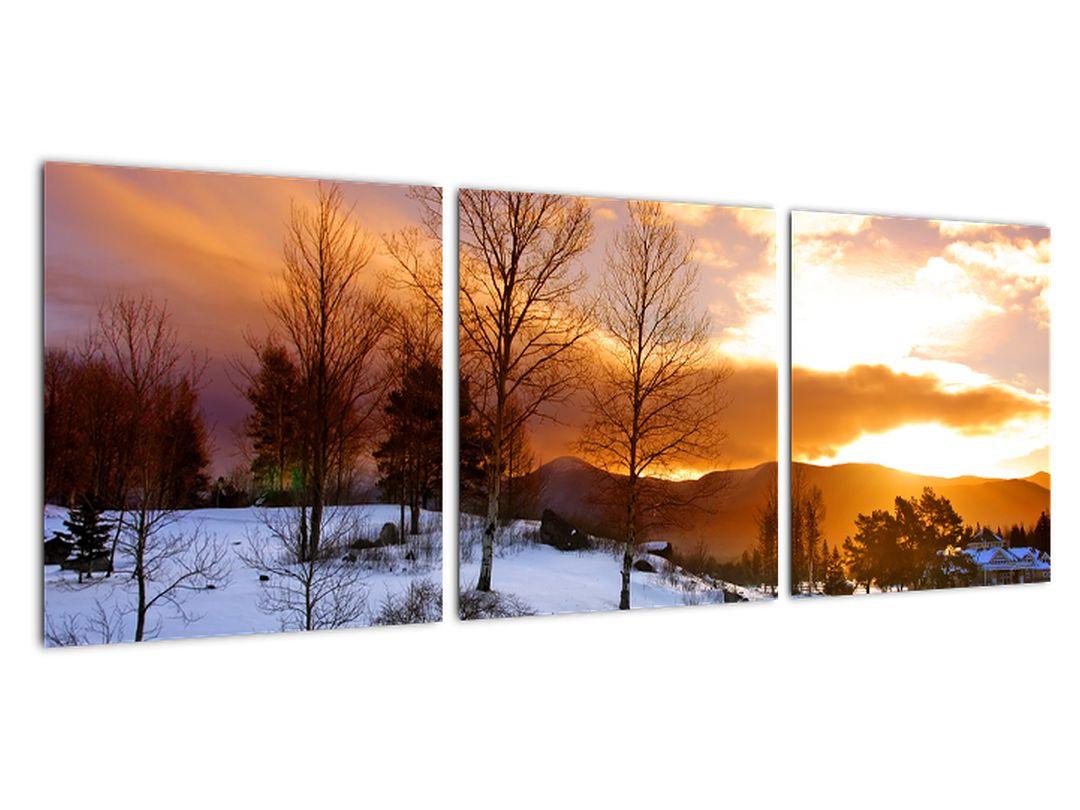 Tablou de peisaj de iarnă