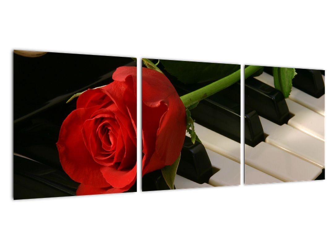 Tablou - trandafir pe pian