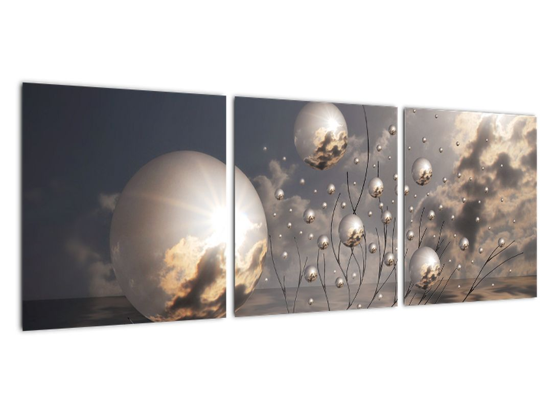 Tablou abstractă - bile gri
