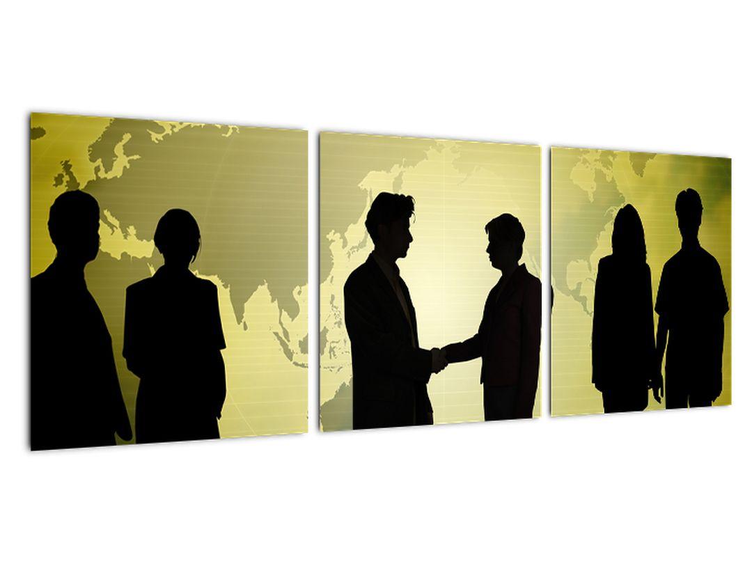 Tablou - oameni de întâlnire