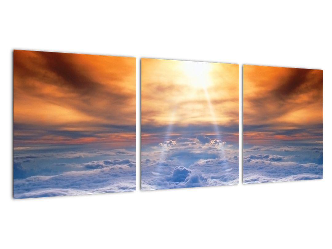 Tablou modern - soarele deasupra norilor
