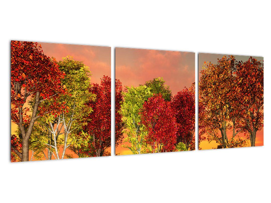 Tablou modern - copaci colora?i