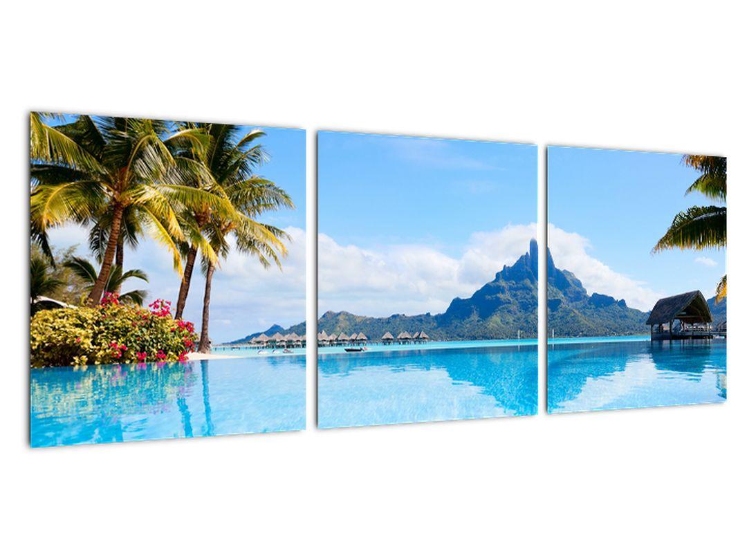Tablou modern - paradis lângă mare