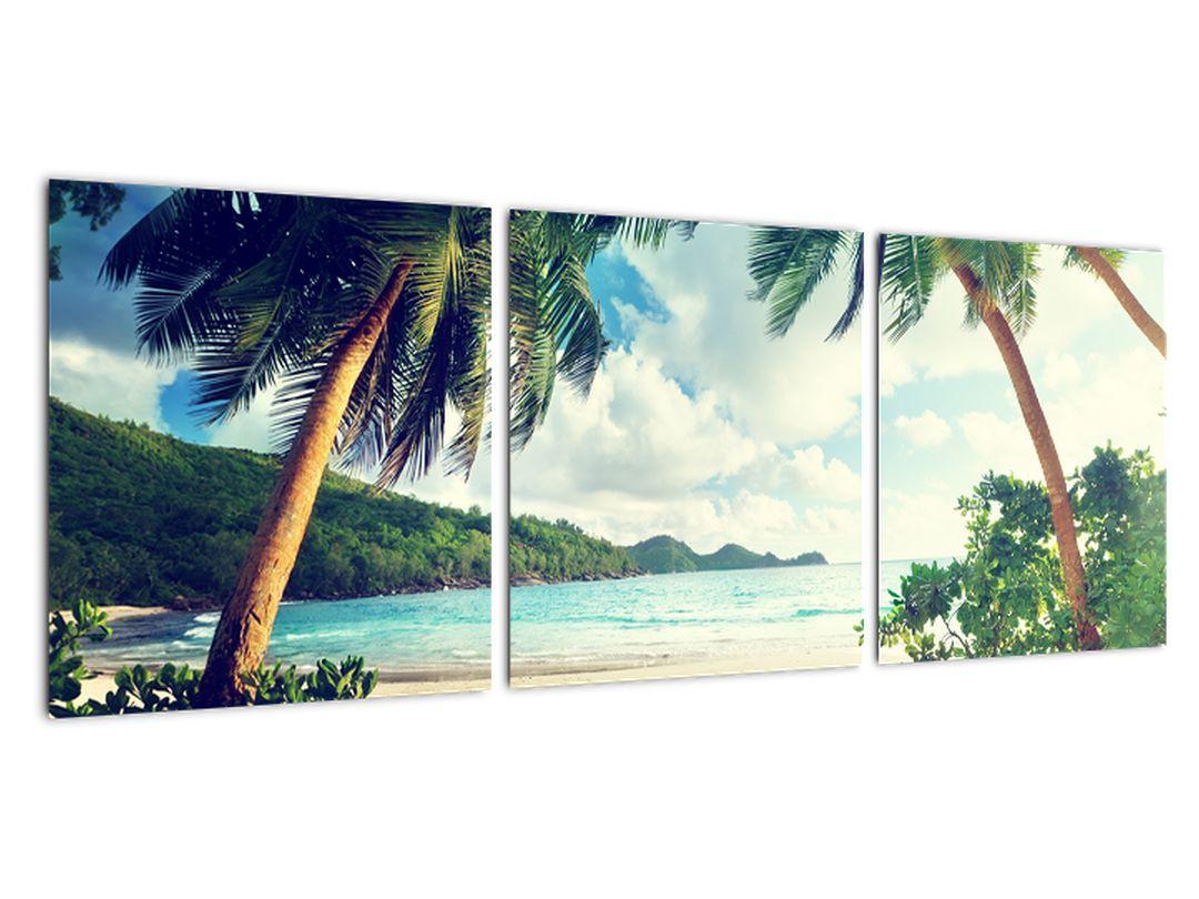 Tablou modern - palmieri pe plajă