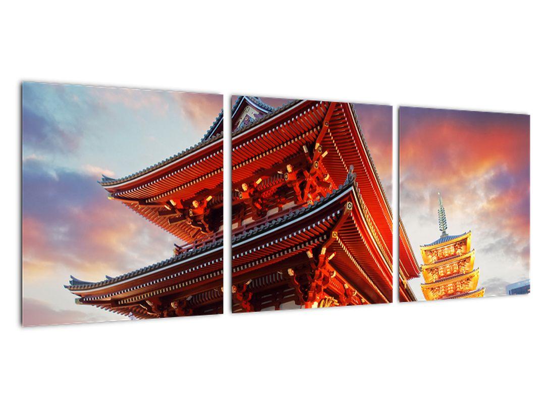 Tablou - templu în Japonia
